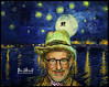 STEVEN SPIELBERG by VAN GOGH (The PIX-JOCKEY (visual fantasist)) Tags: portrait sky moon art night photoshop painting landscape joke fake humour luna hollywood photomontage chop caricature et ritratto vangogh torero stevenspielberg fotomontaggi robertorizzato pixjockey