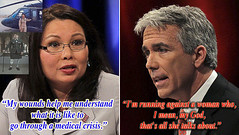 Tammy Duckworth v Joe Walsh - h (SouthernBreeze) Tags: 2012 southernbreeze ltctammyduckworth usarmy iraq veteran helicopter commander pilot shotdown purpleheart airmedal armycommendationmedal wounded amputee hero ifyouhavesomethingtotalkaboutyoutalkaboutit somefolksdonthaveanythingtotalkaboutandsotheycriticizethosewhodo illinois il politics election t