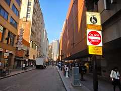 Downtown Crossing pedestrian mall (quiggyt4) Tags: cambridge bus car boston retail shopping subway europe downtown publictransportation traffic mit massachusetts harvard redsox newengland pedestrian transportation transit macys bruins mbta logan patriots streetscape commuterrail celtics zone brt southstation downtowncrossing facebook busrapidtransit ronpaul ows occupy twitter 5photosaday planetizen hubway occupywallstreet