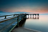 pre-dawn as the sun prepares itself for another day (dK.i photography) Tags: longexposure sky cloud colors night sunrise canon dawn pier cloudy perspective smooth maryland formation bluehour canonef1740mmf4lusm chesapeakebay waterscape calvertcounty flagponds 5dmkii singhrayrgnd