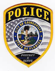 FL - Gainesville Police Department (Inventorchris) Tags: college club for justice office community peace cops display florida gainesville police criminal cop service law fl enforcement patch emergency patches department officer crj waubonsee officers