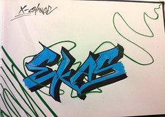 Exchange.. (Doc Crew) Tags: blue black green copenhagen denmark graffiti sketch flickr with dash crew doc danmark exchange ekas kbenhavn blackbook xchange stenlse
