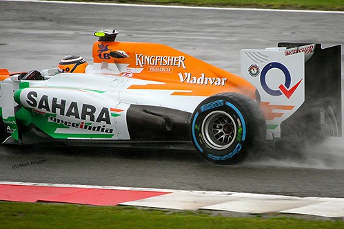 Nico Hulkenberg's Force India at Silverstone