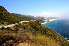 big sur (sashikacoxhead) Tags: ocean california sea summer sky mist holiday beach sunshine clouds canon coast pacific bigsur pch pacificocean socal southerncalifornia route1 pacificcoasthighway