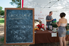 CHOCOLATE - AIR CONDITIONING FOR THE MIND (-Dons) Tags: usa sign austin texas unitedstates chocolate tx austinfarmersmarket cocoapuro