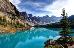 Reflections at Moraine Lake (zach berg) Tags: lake beautiful zach reflections rockies mark canadian ii 5d 1740 moraine bergamin