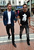 Geordie's Shore's Greg Lake spotted walking on Grafton Street with manager Noel Parsons Dublin, Ireland