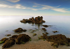SEA MONSTER (kenny barker) Tags: longexposure sea sky seascape water lumix scotland bravo g1 panasonicg1 welcomeuk kennybarker