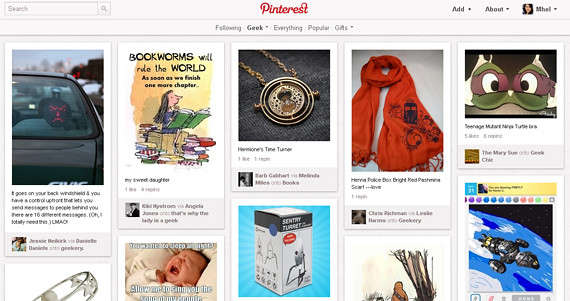 Geek category on Pinterest