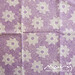 #109 Vintage sheet - purple