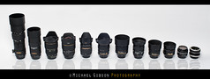 My Lens Collection (Michael.Gibson.Photography) Tags: macro lensbaby 35mm lens photography 50mm nikon 28mm 85mm sigma tokina 300mm micro 60mm tamron 1224mm dx 180mm 2870mm 18g 1530mm d700