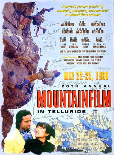 1998 Mountainfilm in Telluride Festival Poster