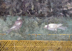 Painted Garden, Villa of Livia, detail with doves