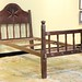 224. Antique Carved Folk Art Bed