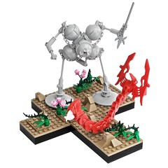 Hunter/Prey (pasukaru76) Tags: robot desert lego hunter prey spear moc wyrm canon100mm