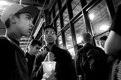 Reading Terminal Market, 2016 (Alan Barr) Tags: street people blackandwhite bw philadelphia monochrome mono blackwhite market candid group streetphotography sp streetphoto gr ricoh readingterminalmarket 2016 readingmarket