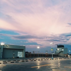 (wendykhin) Tags: sunset parkinglot sky cambodia