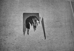 Souvenirs of Displacement #1 (Dr John2005) Tags: blackandwhite london wall europa unitedkingdom olympus torn distressed mjuii surfaces untitled johnperivolaris souvenirsofdisplacement