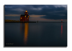 Channel Lanterns (Mark Darnell) Tags: bigredlighthouse hollandmi lighthouse nightphotos place structure