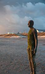 Iron Man statue, Crosby beach (robyn_pinder) Tags: beach crosby iron man statue sunset sand