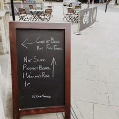 Bears (214/366) (garrettc) Tags: chalkboard funny capeofgoodhope oxford pub sign 366 365
