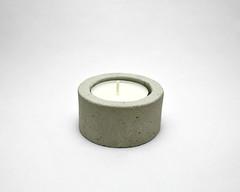 concrete tea light candle holders (cubo mosaics) Tags: concrete tealight candle holder grey cement minimal