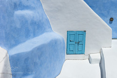 Window (tycampbe) Tags: ifttt 500px city greece island window blue architecture abstract building white abstraction detail balconies santorini