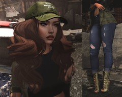 We aint never gettin' older. (Yaya Castillo-Levi) Tags: secondlife army military green addams emery bold beauty blog credits mesh catwa reign blueberry grunge urban