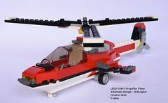 LEGO 31047 Propeller Plane - Alternate Design: Helicopter (KatanaZ) Tags: lego31047 propellerplane lego creator helicopter copter chopper alternatedesign