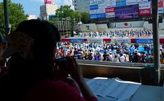 Watching Main Stage (Sakuramai Toronto) Tags: kochi yosakoi festival yosakoifestival performance competition ambassadors japan summer          outdoor outdoors people stage show live dance dancer dancers camera billboard