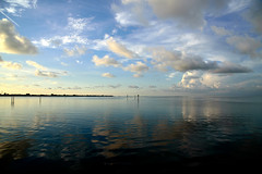 Clouds over Tampa Bay (Emily Kistler) Tags: america beach bradenton coquina d750 evening florida nature nikon outdoors usa unitedstates sky clouds blue reflections bay water atlanticocean ocean sunset gulf gulfofmexico landscape travel tampa