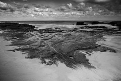 Kaup Beach (akarakoc) Tags: honolulu beach kaupo park sea waves clouds long exposure hawaii black white sand fujifilm fujixseries xt1
