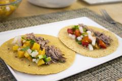Homemade Carnitas Tacos with Peach Salsa and Tomato Salsa (Tom Ipri) Tags: diningin tacos food52 salsas