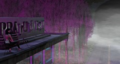 Pink Light (Tizzy Canucci) Tags: secondlife virtualworld seedy pravumest redlight derelict diner neon