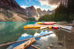 Moraine Lake (fran.llano) Tags: canada lake morainelake