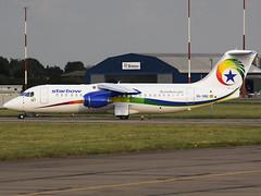 Starbow   British Aerospace BAe Avro RJ100   9G-SBE (FlyingAnts) Tags: starbow british aerospace bae avro rj100 9gsbe britishaerospacebaeavrorj100 airlivery norwich nwi egsh