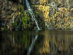 Waterfall (jonathankitt) Tags: rocks water waterfall longexposure poselongue cascade cantal auvergne reflection mirror basalt eau nd400 filter miroir reflet rochers filtre lumixfz200 ander sailhant andelat babory cirquebasaltique basalticcircus