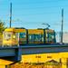 Panning Portland Streetcar Crossing Its Own Bridge