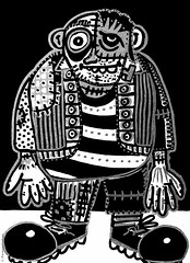Cor de monstre 12 (Fernando Laq) Tags: monster monstruo monstre dibujo dibuix bn grises
