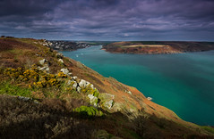 Salcombe spring (snowyturner) Tags: salcombe estuary englishchannel coastal spring colours clouds landscape overbecks