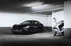 Black On Black. (Gal cho photography) Tags: maserati gran grancabrio cabrio cabriolet gt gtc black car super supercar stuning stunning cool israel blackonblack love motorcycle motor gal cho chobotaro photo photograph photography best world garage light canon 650d 18135mm rare expensive color special