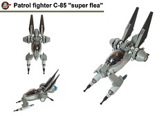 "C-85 ""Super flea"" , Patrol fighter. (Loysnuva) Tags: spaceship space spacecraft patrol fighter lego system moc bionifigs starfighter loysnuva scifi"