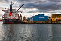 Tientsin Port Adelaide (johnwilliamson4) Tags: clouds flindersports industrial ship southaustralia tientsin transport waharf17 portadelaide adelaide australia