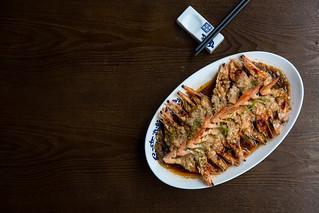 Steamed Garlic Shrimp