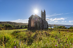 """Old Church of Dunlewey"" (Gareth Wray - 9 Million Views - Thank You) Tags: mount errigal mountain famous derryveagh mountains landscape view gweedore county donegal ireland irish countryside nature heather mts mt gareth wray photography strabane nikon d810 lens landmark tourist tourism location visit sight site dunlewey church chapel poison poisoned glen valley grassy summer sheep old moor day photographer vacation holiday europe outdoor grassland sky wild ruin abandoned derelict atlantic way winter arduns 1424mm nikkor sacret heart eire haunted balor giant giants head flare rays light sun star"