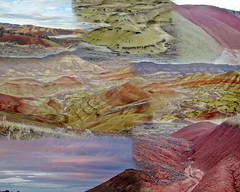 PAINTED HILLS Collage (dinannee) Tags: hike collage paintedhills easternoregon