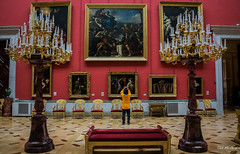 2016 - Baltic Cruise - St. Petersburg - Hermitage 15 (Ted's photos - For Me & You) Tags: 2016 cropped tedmcgrath tedsphotos vignetting russia stpetersburg ussr smallitalianskylightroom hermitagesmallitalianskylightroom smallitalianskylightroomhermitage hermitage seating seats photographer chandelier paintings museum male emptyseats unesco unescoworldheritagesite unescoworldculturalcentre