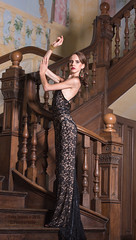 High Fashion on Location (T.J. Photography) Tags: high fashion hammerwood stairs blackdress model