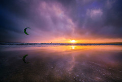 Kite Surfin' (Ray Moloney Photography) Tags: ifttt 500px kite surfer beach sunset clouds sand water ocean ireland sun blue waves seascape surf coast sky beautiful travel county clare lahinch castle land eire sport orange purple raymoloneyphoto