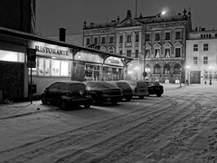 Winter in Stettin (TomasLudwik) Tags: winter snow snieg zima szczecin stettin bw blackandwhite